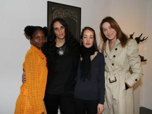 Chantelle Broomes, Roxane Depardieu, Shanna Besson et Carla Bruni Sarkozy2