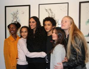 Chantelle Broomes, Roxane Depardieu et ses frères et soeurs et cousins