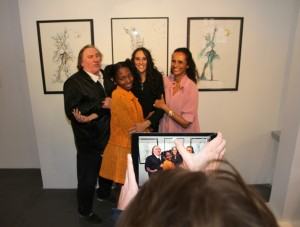 Gérard Depardieu, Chantelle Broomes, Roxane Depardieu et Karine Silla