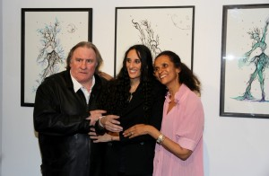 Gérard Depardieu, Roxane Depardieu et Karine Silla