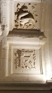 La salamandre emblème de François 1er et son initiale(c)MF Souchet