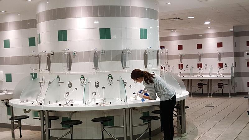 Salle de soins ORL aux Thermes d'Enghien-les-Bains(c)MF Souchet