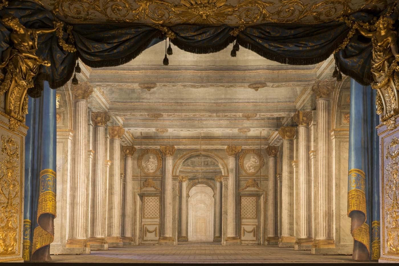 Décor de Théâtre Temple de Minerve Slodtz Paul Ambroise (1702-1758) Slodtz Sébastien-Antoine (1695-1754) © Château de Versailles, Dist. RMN-Grand Palais / Christophe Fouin