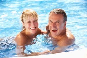 Senior Couple Having Fun In Swimming Pool ©coll.MDT52