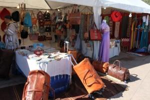 Le cuir, c'est l'une des vitrines de l'artisanat marocain © Dominique ROUDY