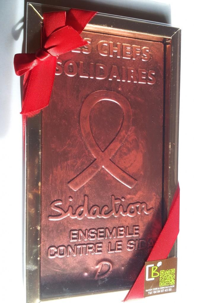 Tablette solidaire de l'artisan chocolatier©MF Souchet