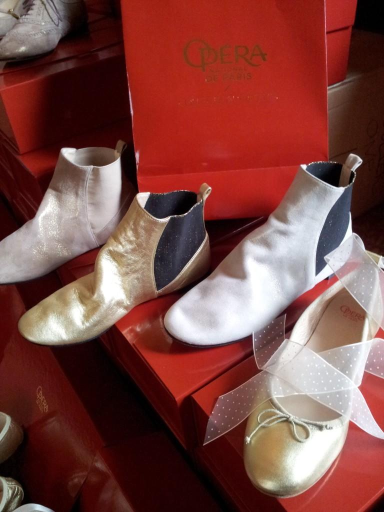 Boots métallisées©MF Souchet