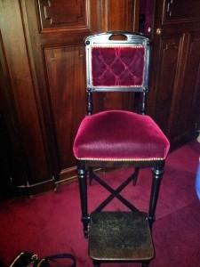 Chaise de loge Opéra Garnier signé Henryot©MF Souchet