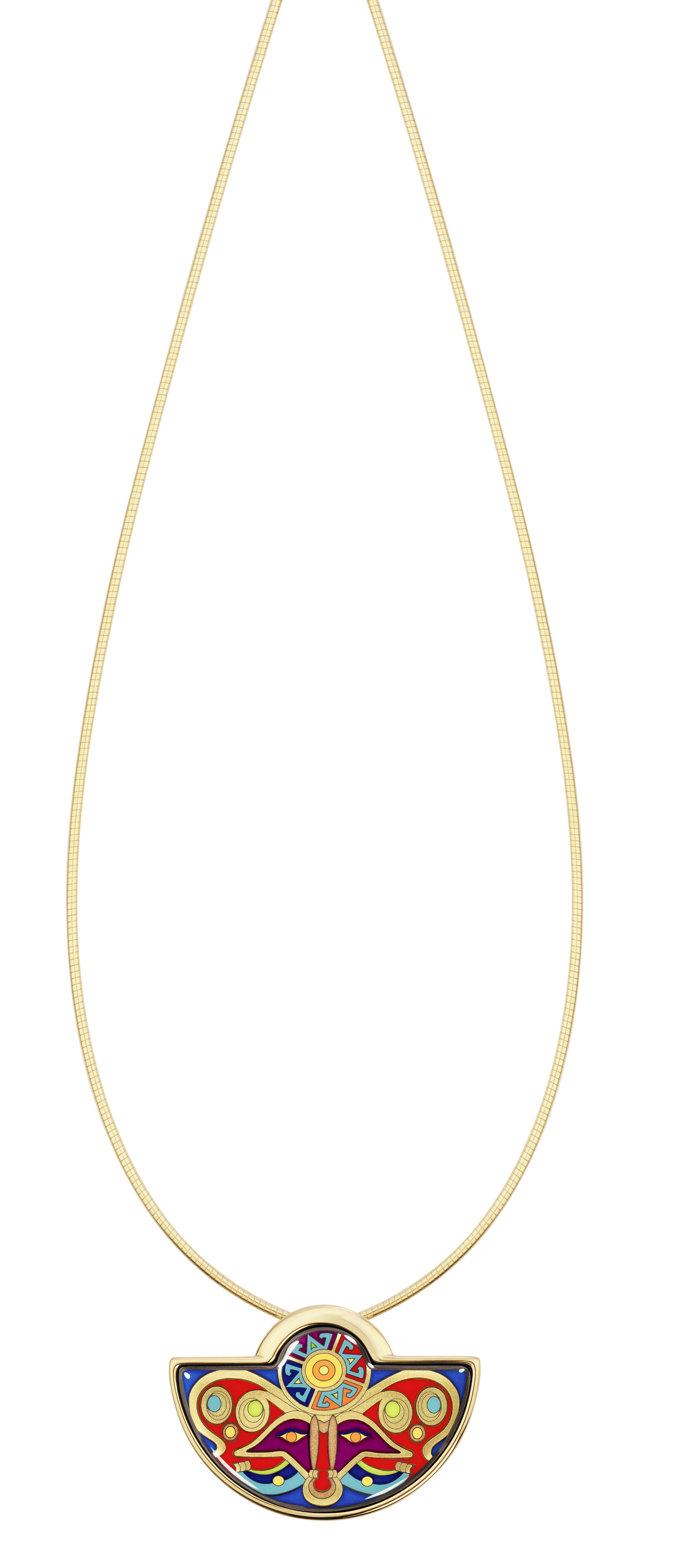 Pendentif demi-lune et sa chaîne serpent(c)Freywille
