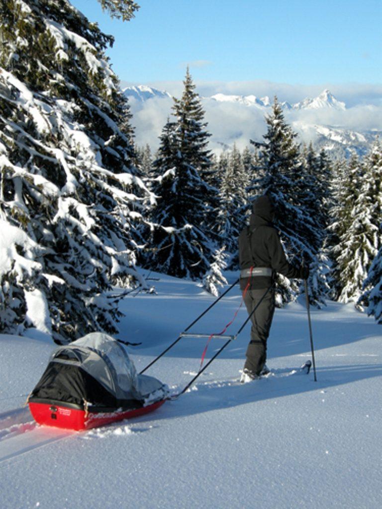 Ski de fond avec la pulka pour enfant(c)Norpulken